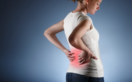 woman with minor back pain
